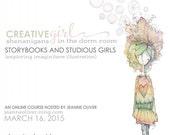 "Online Art Class ""Creative Girl: Storybooks and Studious Girls"""