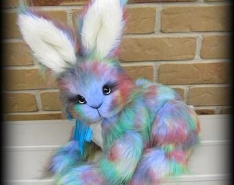 Walter Rabbit - Rainbow faux fur bunny rabbit KIT