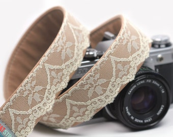 Camera Strap, Lace Camera Strap,  Oats and Honey Lace Strap