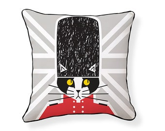 Keep Calm and Kitty On Pillow