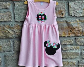 Make Mine Minnie Pink-  Monogram Personalized Dress - 12m-8 years - Julianne Originals