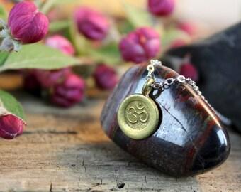 Tiny Gold Om Necklace