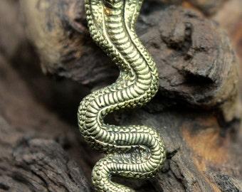 Brass Snake Pendant