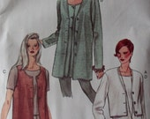 Vogue 9200, Misses' Cardigan, Vest & Top sewing pattern, Size  12 14 16,  Uncut
