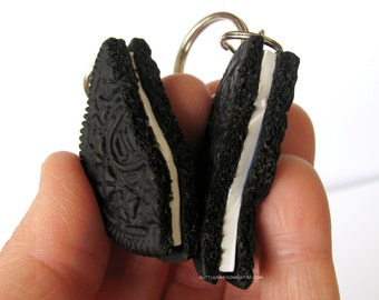 You're my Other, Half Oreo Keychain SET, Oreo Cookie, BFF set, Food Jewelry, Oreo Keychains, Polymer Clay Cookies