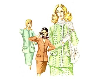 Kwik Sew 384 Ladies Suit  - Skirt / Jacket Two Styles - Vintage Sewing Pattern - Size 8-10-12 / Bust 34-35-37 Uncut