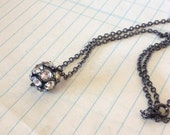 Lovely Rhinestone Crystal Ball Necklace