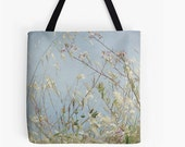 Pillow or Tote - Wild Grass in Wind, Farmers Market Bag, Tote Bag, Shoulder Bag, Travel Bag