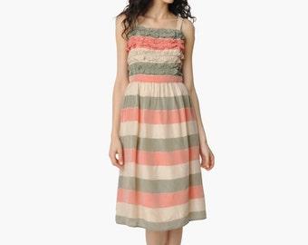SALE - Vintage Striped Party Dress