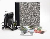 Wedding Photo Album Black and White Flowers - Wedding Scrapbook,Art Journal,Guest Book,Wedding Book,Book of Wishes