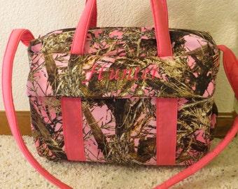 True Timber  pink Camo Diaper Bag w/change pad by EMIJANE