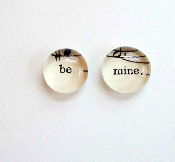be mine- lyrics from vintage sheet music - magnet