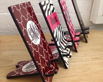 Cell Smart iPhone Stand - Charging Stand - Smart Phone - Custom Designed Phone Stand Personalized with Name, Monogram and Patterns