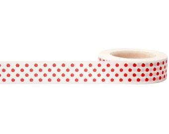 SALE Apples Decorative Tape • Little B Decorative Paper Tape • Apple Washi Tape • Craft Supply • Apple Tape • Apples Washi Tape (100658)