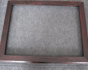 18x24 Wormy Maple Reddish Brown Dye Picture Frame