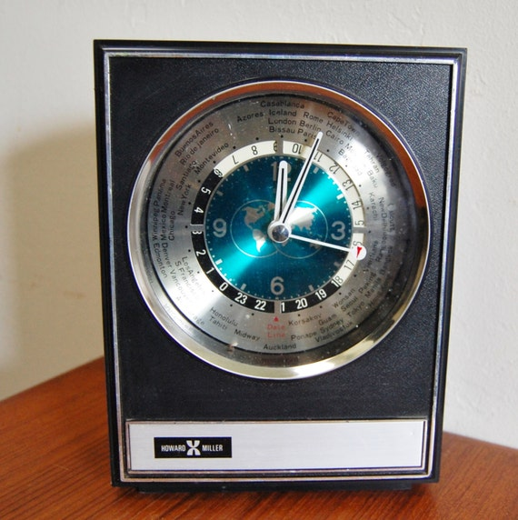 The Second Most Famous Clock In The World: Items Similar To Vintage Howard Miller World Clock