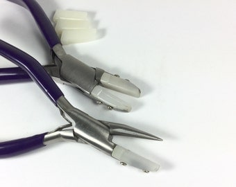 Nylon Jaw No Mar Wire working combo Straightening Pliers, round nose. Don't be fooled by cheaper imitations