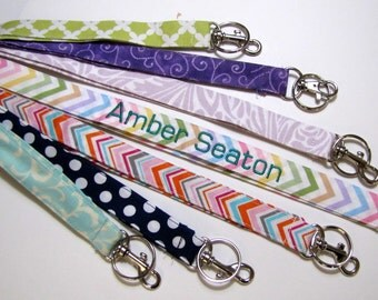 Personalized Lanyards, Monogram, Names on Lanyards,Teacher Lanyard Appreciatio, Nurse Lanyard, School Name on Lanyard, 15 Letters , Chevrons