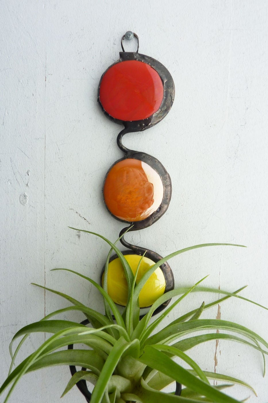 Stained Glass Air Plant Holder The Art In Life