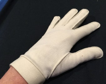 One (1) Pair of Vintage White Nylon Stretch Ladies' Gloves