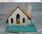 2800 Items To Choose From Vintage Mica Putz Miniature House or Church 1, Japan, Village, Lights, Christmas, Holiday, Tree Decor , Tree Light