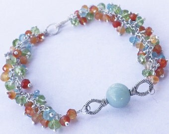 Last Chance -- 60% Off -- Gemstone Bracelet