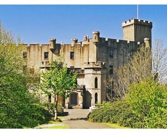 Dunvegan Castle Scotland Photography MacLeod Clan Isle of Skye Inner Hebrides Castle Landscape Scottish Decor Art Print Wall Office Decor