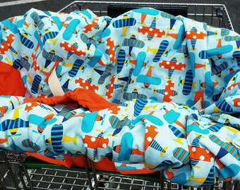 Organic Shopping Cart Cover For Boy You Choose Fabric