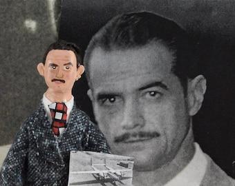 Howard Hughes Doll Miniature Historical Art Character