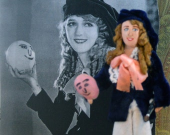Mary Pickford Doll Miniature Vintage Hollywood Movie Star Art Character