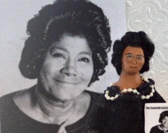 Mahalia Jackson Gospel Singer Character Miniature Art Doll