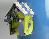 Mini house magnet, inspiration board, Green House Magnet with blueberry for refrigerator