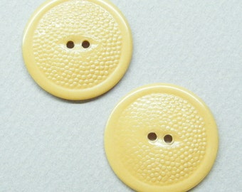 Vintage Buttons, Bakelite Buttons,  Catalin Plastic,  Simichome Tested, Textured Buttons, Butterscotch Buttons