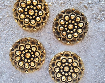 Metallic Gold Vintage Buttons