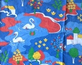 Seventies vintage childrens fabric