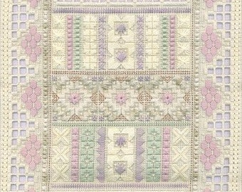 Embroidery Pattern, Gentle Touch Hardanger Embroidery Pattern by Judy Dixon, Hardanger Sampler DD