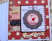 Handmade Valentine Card, Valentine, Sweet, Cupcake, Heart, Greeting Card, Valentines Day, Valentine, Primitive Valentine, Romance, ofg team
