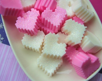 PIXEL LOVE, Mini Heart Soaps, Stocking Stuffers, Valentines Day, Gamer party favors
