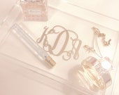 Monogrammed Clear Acrylic Tray