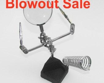 SALE!   4x Helping Hand/Soldering Magnifier