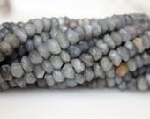 Labradorite Faceted Bead Rondelles 6mm