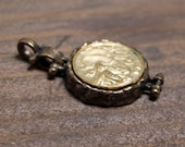 Bee Two Tone Gold Plated Bronze Charm Pendant