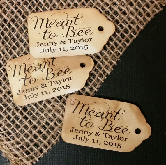 "Choose your Amount MEANT to BEE SMALL Personalized Favor 2""  Tag"