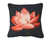 XL Cushion cover for throw pillow - Lotus - 24x24inch // 60x60cm