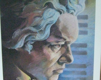 Beethoven Poster . The Immortal Beethoven Poster . Aid Association for Lutherans 1987