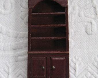 Dollhouse Book Case .  Miniature Book Case . dollhouse furniture . dollhouse library