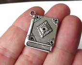 6 Book Charms 26x21x2mm