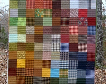 "gradient, pixalated, modern, lap quilt, picnic quilt..54"" x 46""...farmhouse quilt...ready to ship"