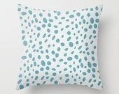 Spotted Pillow Cover Blue Pillow Nautical Pillow Coastal Pillow 8 Sizes Available Cushion Cover