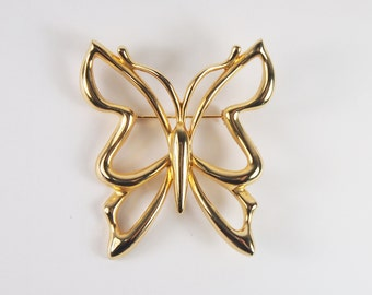 Piscitelli Large Butterfly Brooch Vintage 70s 80s Jewelry